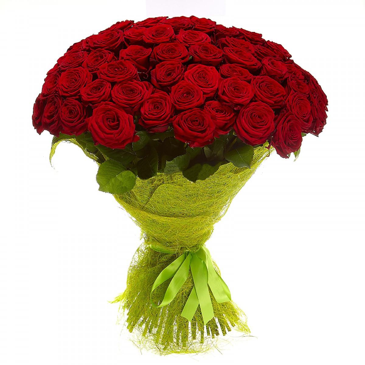 Цветы букеты розы 101